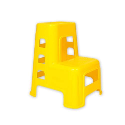 MLZWS Plastica Scala a pioli, plastica 2 Passo Sgabello for adulti e bambini Ladder pratico Car Wash Sgabello Household Goods piccolo sgabello scarpe da banco Passi Sgabello (Color : Green)