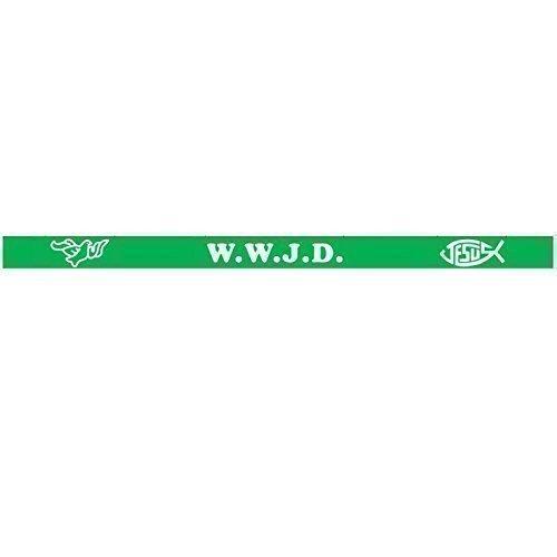 WWJD - What Would Jesus Do Wristband - Silicone Bracelet x 1 (Green)