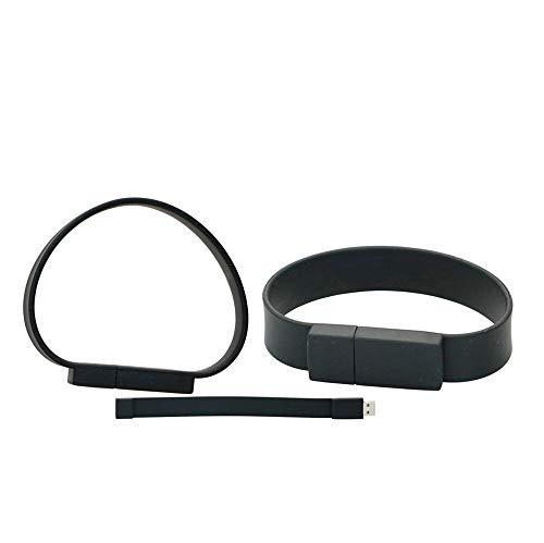 16GB braccialetto usb 2.0 di memoria flash drive modello grosso pollice u disco usb flash drive, bastoncini di immagazzinamento dati usb chiavetta usb flash disk (Black)