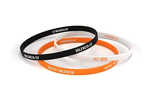 Valencia Club de Fútbol Pulsera Classic Tricolor Estándar para Hombre | Pulsera Valencia de Silicona | Apoya al Valencia CF con un Producto Oficial | VCF