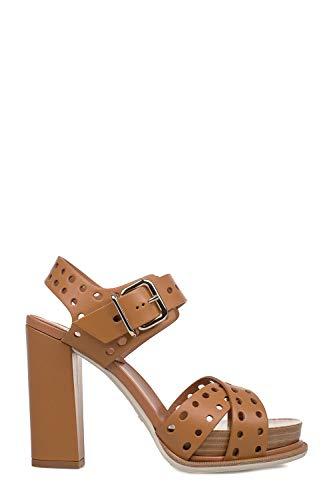 Tod's Luxury Fashion Damen XXW18A0Y350NB5S002 Braun Leder Sandalen | Jahreszeit Permanent