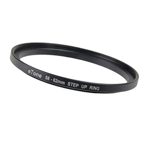 Fantastic Prices! eTone 1x 58-62mm Aluminium Step Up Ring Adapting 62mm Accessories to 58mm Threadin...