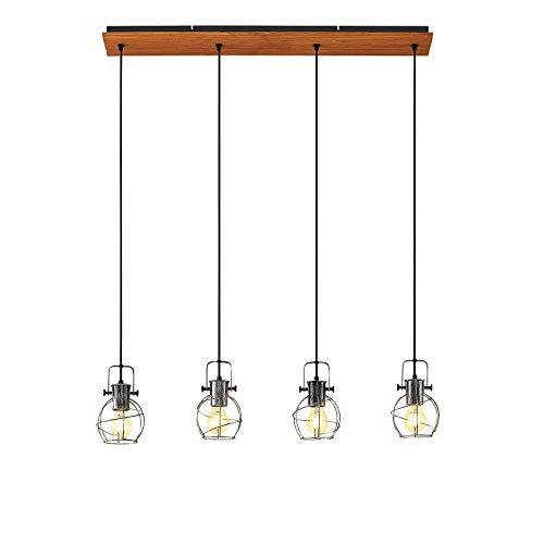 Lámpara colgante 'Salima' (Vintage) en Gris hecho de Metal e.o. para Salón & Comedor (4 llamas, E27, A++) de Lindby | lámpara colgante, lámpara colgante, lámpara, lámpara de techo, lámpara de techo