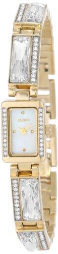 Elgin Women's EG616 Austrian Crystal Accented Bracelet Watch