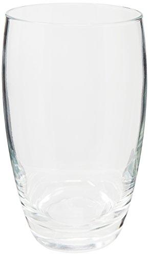 Borgonovo Aurelia-11000742 Juego de 6 Vasos de Vidrio, 420 ml