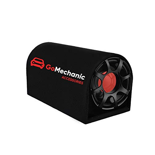 GoMechanic Resonar R1 Premium 8 Inch Active Bass Tube Subwoofer with Built-in Amplifier