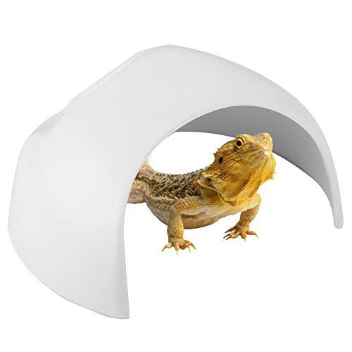 Pssopp Cueva de Reptiles - Caja de escondites de Reptiles Refugio de Reptiles Acuario Tanque de Peces Decorar Adornos de Cuevas Decoración para Lagarto Tortuga Tortuga Anfibios(Blanco)
