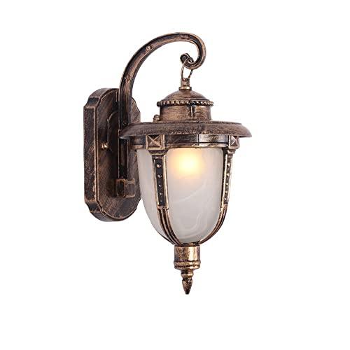 ZCCLCH Lampada da Parete in Metallo Lampada da Parete in Metallo Lampada da Parete in Metallo (Lampada in Vetro)