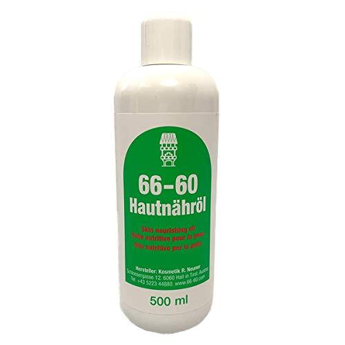 '66-60 Hautnähröl' die sanfte Pflegeemulsion mit Vitamin E - für alle Hauttypen geeignet - 500 ml