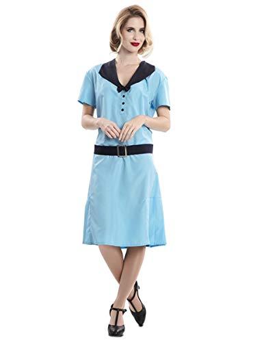 Generique - Stilvolles Sekretärinnen-Kostüm aus den 50er-Jahren blau-schwarz M / L