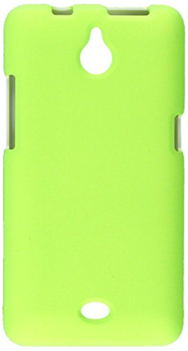 HR Wireless Huawei Valiant/Huawei Ascend Plus H881C Rubberized Design Protective Cover - Retail Packaging - Neon Green