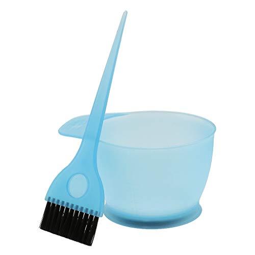 Professionell Haarfärbemittel Schüssel Pinsel Set Färbeset Färbeschale Fit für Friseursalon (blau)