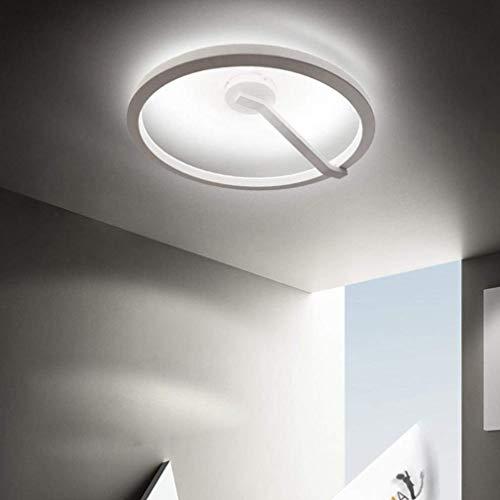DEJ plafondlamp, modern, acryl, hanger, kroonluchter, rond, wit, elegant, woonkamer, eetkamer, werkkamer, bar, decoratie, plafondlamp, dimming, 3000 K-6000 K