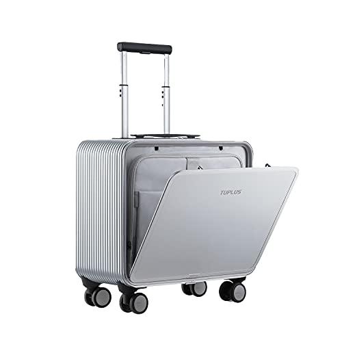TUPLUS スーツケース アルミ キャリーケース 機内持ち込み可 8輪キャスター TSAロック搭載 旅行出張(30L 4.7kg) (Silver)