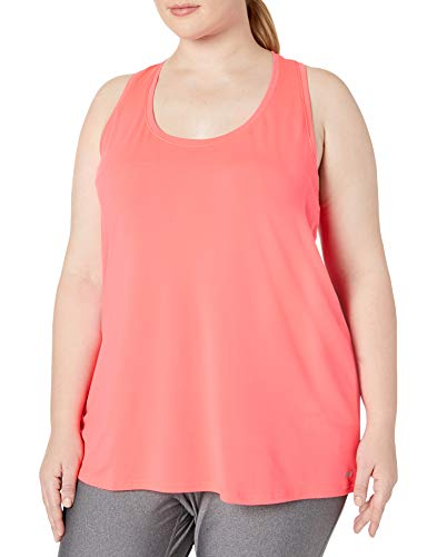Amazon Essentials Women's Plus Size Tech Stretch Racerback Tank Top, Bright Pink, 3X