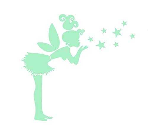 Nacnic Pegatinas de Pared Brillan EN LA Oscuridad. Vinilo Decorativo de Campanilla Peter Pan. Pegatinas Fluorescentes. Láminas Luminosas Decoración Habitación, niño, niña, Infantil y bebé.