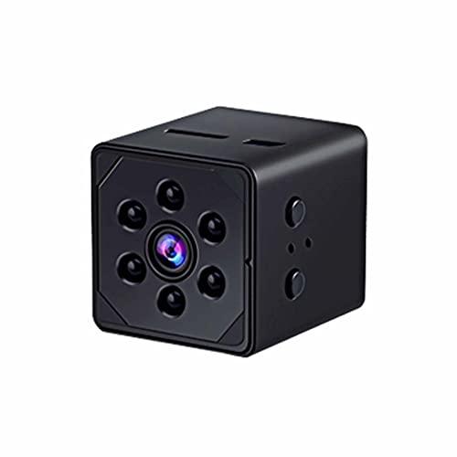 SXTYRL Mini Camara, Pequeño, Microcamara, Automática, Espia Camara, Puerta Garaje Dormitorio, con Alertas, con Batería (Color : Black, Size : 64G)