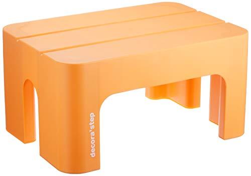 サンカ 踏台 ポリプロピレン デコラステップS オレンジ 20cm DS-SOR 1個