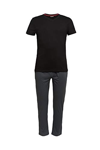 Esprit XANNDER NW OCS Pyjama Longsleeve Juego de Pijama, 001/negro, XL para Hombre