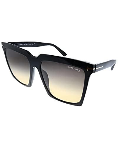 Tom Ford Gafas de Sol SABRINA-02 FT 0764 BLACK/GREY SHADED 58/16/140 mujer