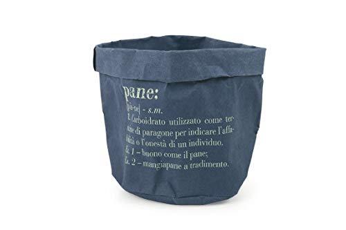 Villa d'Este Home Tivoli victionary mand Pane Medio blauw, papier, 18 x 18 cm 24 cm