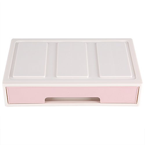 Drawer Desk Organizer Colorful Desktop Jewelry Cabinets Makeup Holder Clutter Storage Box for Home Type-1