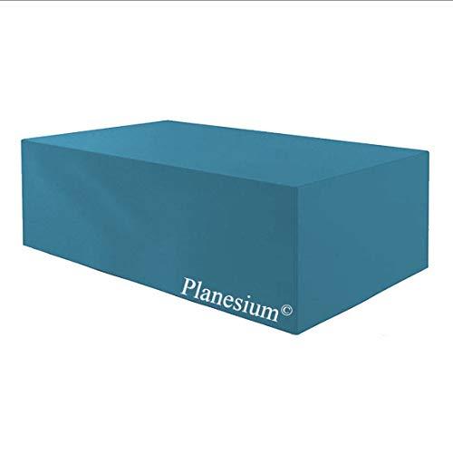 Planesium Premium Funda de Muebles de Jardín Mesa Protectora Cubierta Impermeable Tela Oxford Resistente al Desgarro Turquesa 150cm x 90cm x 75cm