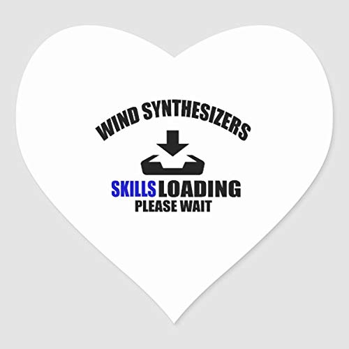 PotteLove Wind Synthesizers Skills Loading Please Wait Heart Sticker voor laptop Fridge Gitar Car Motorcycle Helmet Luggage Cases Decor 4 inch in breedte 4 Inch in Width