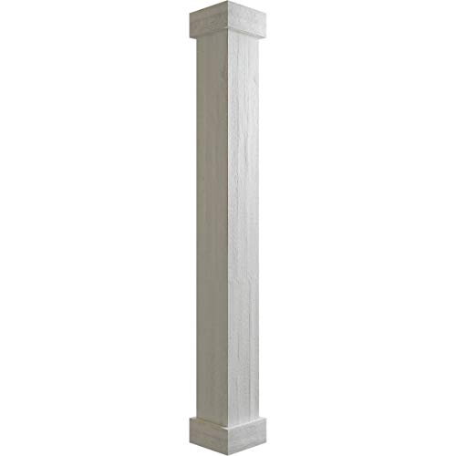 DreamWallDecor Decorative Interior Column Whole Column Made from Dense Architectural Polyurethane Compound 7 Inch Fluted Shaft