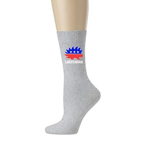 Calcetines atléticos de la novedad, calcetines respirables libertarios de la compresión del puercoespino para los deportes