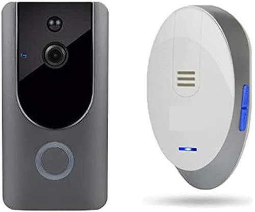 Timbre inalámbrico, Timbre inalámbrico Video inalámbrico Video Intercom Tim Towlell Home Office Chalet Free Punching Smart Night Vision Video Doorbell Door Chime Kit , para la oficina de la escuela en