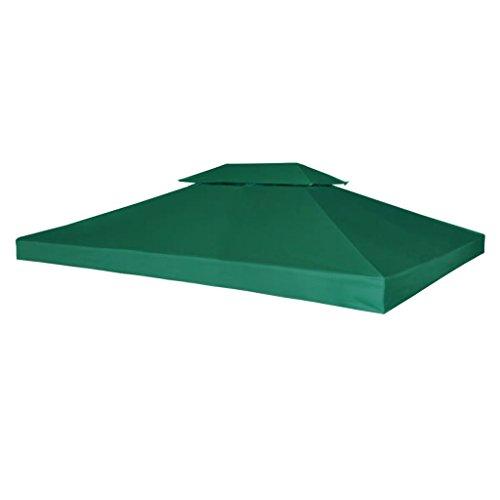 UnfadeMemory Telo Impermeabile Ricambio per Gazebo 310g/m² Verde 3x4m