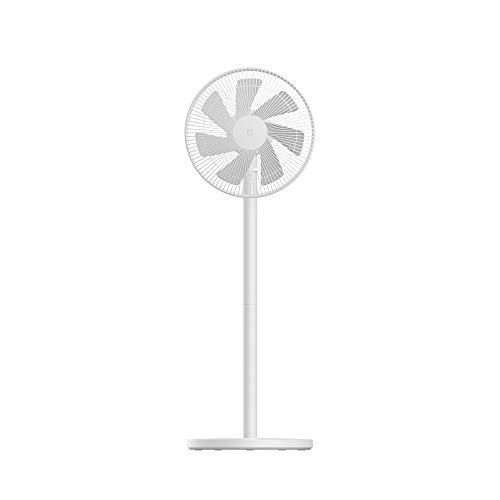 XIAOMI Mi Smart Standing Fan 2 Lite, Ventilatore Smart, Design a 7 Lame, Controllo Vocale, Ventilazione Grandangolare, Interconnettività Mi IoT, Bianco, Versione Italiana