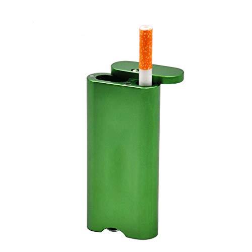 ZYING Estuche de Aluminio para Fumar Cigarrillos Moda Cigar Tabaco Titular Caja de Bolsillo Contenedor de Almacenamiento portátil Estuche de Tabaco (Color : Green)