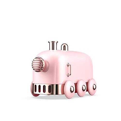 Humidificador de vapor frío con forma de tren, tanque de agua de 300 ml que dura hasta 10 horas, cambio de luces LED de 7 colores, para el dormitorio del hogar, la guardería y la oficina del bebé