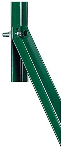 10x Saetta A L 25x25x3 H. 200 cm in Ferro PLASTIFICATO Verde PALO per Recinzione