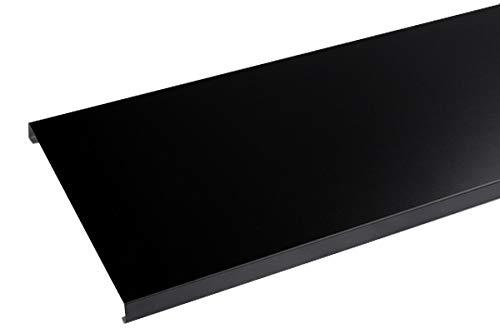 Couvertine aluminium 1 mm noir 9005-2 mètres - 200 mm