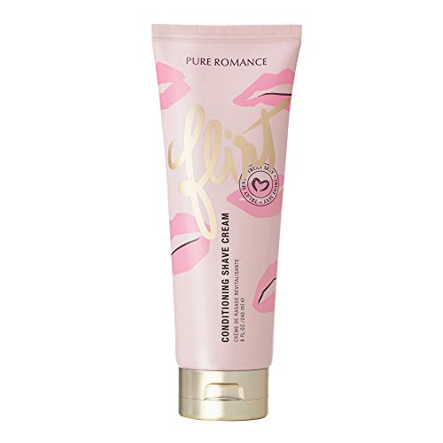 Pure Romance Coochy Cream, Conditioning Scented Shave Cream, Our Best Shaving Cream for Women to Experience their Smoothest Bikini Area, Legs, and Underarms (Truly Sexy Flirt)