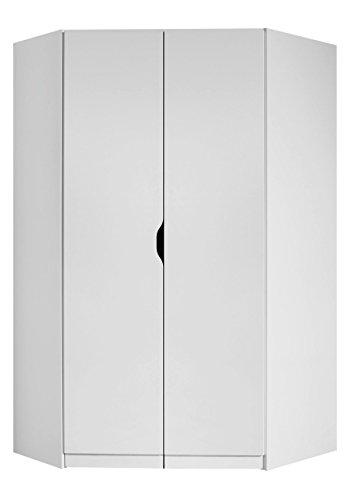 Rauch Eck-Kleiderschrank 2-türig B/H/T 117 x 194 x 104 cm alpinweiß skandinavisch Kinderzimmer Jugendzimmer