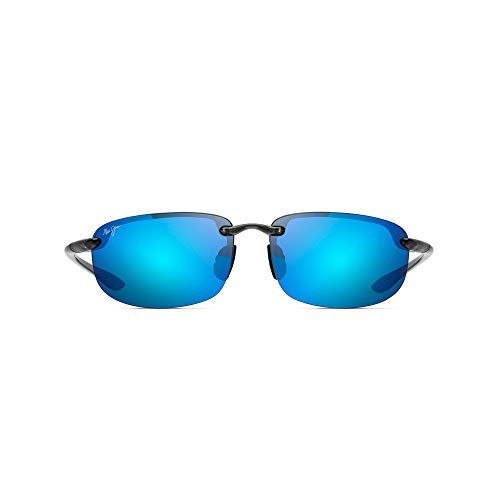 Maui Jim - HOOKIPA 807, Rund, Acetat, Herrenbrillen, GREY SMOKE/BLUE HAWAII MIRROR POLARIZEDPLUS2(B407-11), 64/17/130