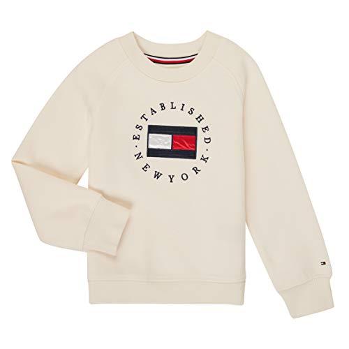 Tommy Hilfiger Kg0kg05492-z00-c Sweatshirts Und Fleecejacken Madchen Weiss - 5 Jahre - Sweatshirts Sweater