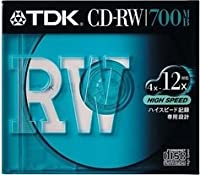TDK CD-RWデータ用700MB High Speed記録対応 10mm厚ケース入り [CD-RW80HSS]