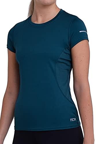 TCA Atomic Quickdry Damen Laufshirt/Funktionsshirt - Kurzarm - Atlantic Deep (Blau), S