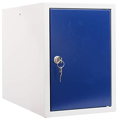 newpo Schließfachwürfel | HxBxT 35 x 25 x 45 cm | Blau | Garderobe Schließfach Schließfachschrank Schließwürfel Spind Umkleideschrank Wertsachenschrank