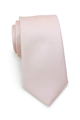 PUCCINI schmal/schmale Krawatte in dezenter Linien-Struktur │ 7cm slim Tie (Krawatten, Binder, Schlips) │einfarbig/uni in: Rosa (Hellrosa/Rose/Blush)