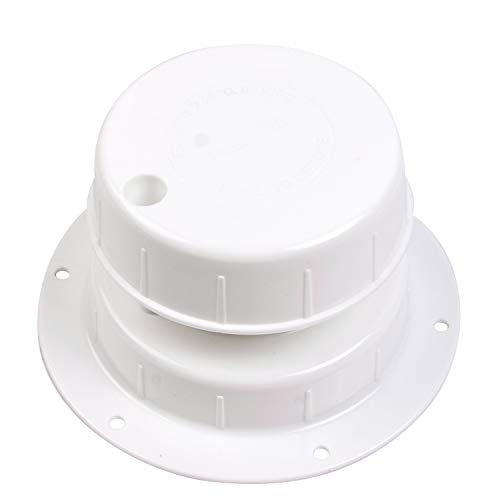 RVMATE Plumbing Vent, Camper Vent Cap Replacement, RV Sewer Vent Cap for 1 to 2 3 8  Pipe, White