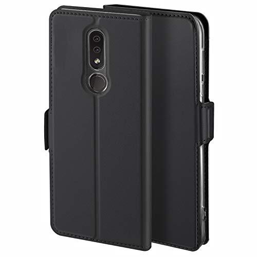 HoneyHülle für Handyhülle Nokia 4.2 Hülle Premium Leder Flip Schutzhülle für Nokia 4.2 Tasche, Schwarz