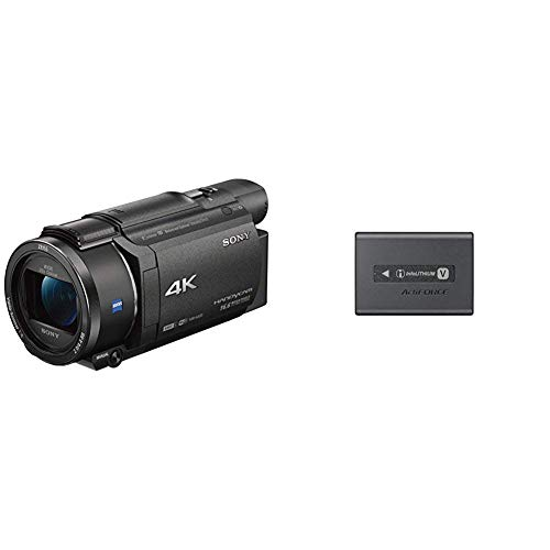 Sony FDRAX53B Videocamera 4K, Nero + Sony NP-FV100A 3410mAh 7.4V rechargeable battery - Rechargeable...