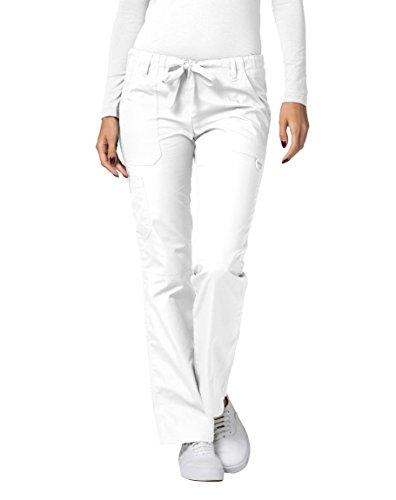 Adar Universal Scrubs For Women - Drawstring Straight Leg Scrub Trousers - 510 - White - 5X