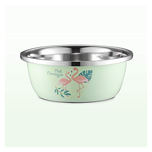ZHENZEN Stainless metal mixing bowl salad bowl Multifunctional mixing bowl Large capability go well with Stackable Reduce space for storing Easy to wash (Size : 28cm)